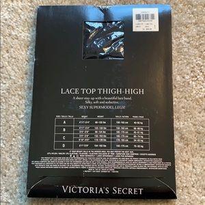 Victoria's Secret Accessories - NIB Victoria's Secret lace top thigh highs. Size C